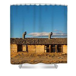 Derelict Shack. Shower Curtain