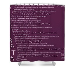 Desiderata 5 Shower Curtain by Wendy Wilton