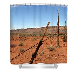 Shower Curtain featuring the photograph  Don't Fence Me In by Tammy Espino