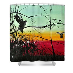 Doves At The Dawn Shower Curtain