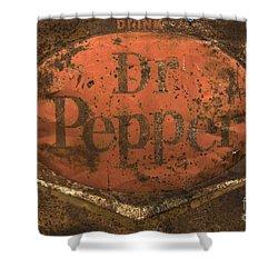 Dr Pepper Vintage Sign Shower Curtain by Bob Christopher