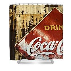 Drink Coca Cola  Memorbelia Shower Curtain by Bob Christopher