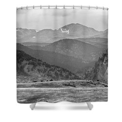 Eldorado Canyon And Continental Divide Above Bw Shower Curtain by James BO  Insogna