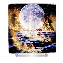 Emotions On Fire Shower Curtain