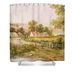 Farmyard Scene Shower Curtain by C L Boes