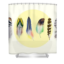 Feathers 2 Shower Curtain by Mark Ashkenazi