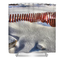 Fence Sculpture Shower Curtain by Randy Pollard