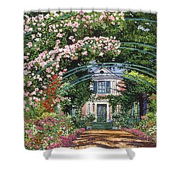 Flowering Arbor Giverny Shower Curtain by David Lloyd Glover