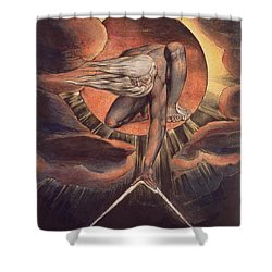 Frontispiece From 'europe. A Prophecy' Shower Curtain by William Blake