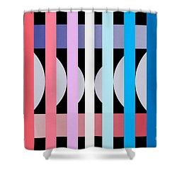 Fun Geometric  Shower Curtain by Mark Ashkenazi