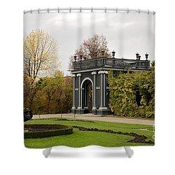 Shower Curtain featuring the photograph  Garden Gate Schonbrunn Palace Vienna Austria by Imran Ahmed