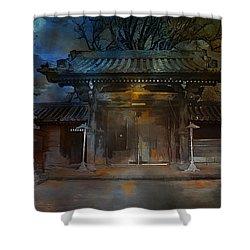 Gate..asian  Moon. Shower Curtain