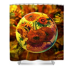 Van Globing Inflorescence Shower Curtain