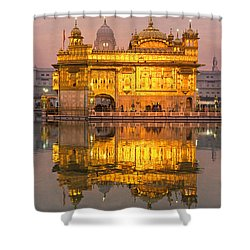 Golden Temple In Amritsar - Punjab - India Shower Curtain