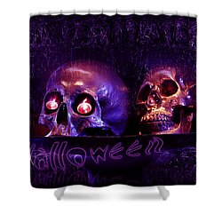 Halloween Party  Shower Curtain by Xueling Zou