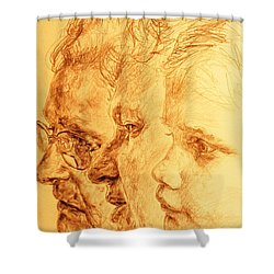 Have Your 3 Generations Drawn Or Painted Shower Curtain by PainterArtistFINs Husband MAESTRO
