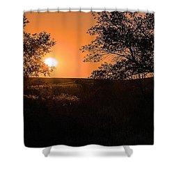 Hayfield At Night Shower Curtain
