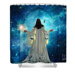 Heavens Door Shower Curtain