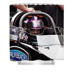 Hillary Will Las Vegas Motor Speed Way Strip Nhra Finals 2008 Shower Curtain by Gunter Nezhoda