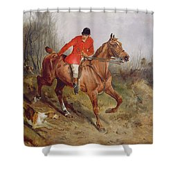 Hunting Scene Shower Curtain by John Alfred  Wheeler