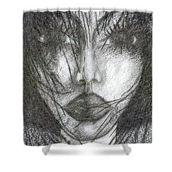I Will Become With You Shower Curtain by Wojtek Kowalski