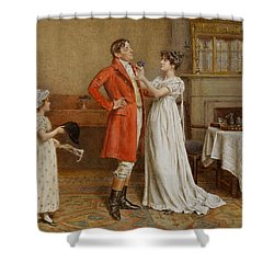 I Wish You Luck Shower Curtain by George Goodwin Kilburne