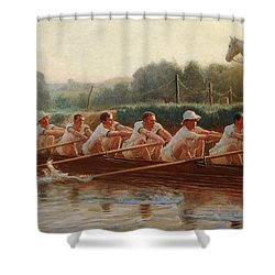 In The Golden Days Shower Curtain by Hugh Goldwin Riviere