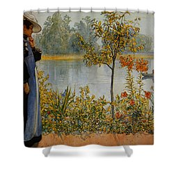 Indian Summer Shower Curtain by Carl Larsson
