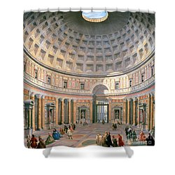 Interior Of The Pantheon Shower Curtain by Panini