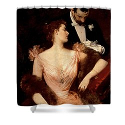 Invitation To The Waltz Shower Curtain by Francesco Miralles Galaup