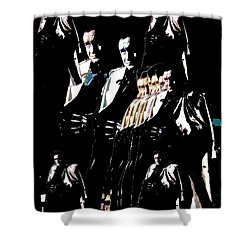 Shower Curtain featuring the photograph  Johnny Cash Multiplied  by David Lee Guss