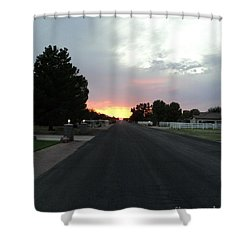 Journey Into The Sunset Shower Curtain by Carla Carson