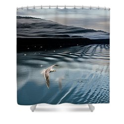 Journey With A Sea Gull Shower Curtain