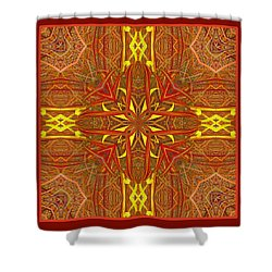 Shower Curtain featuring the photograph  Keltic Cross by I'ina Van Lawick