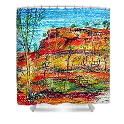 Kimberly Bold Cliffs Australia Nt Shower Curtain