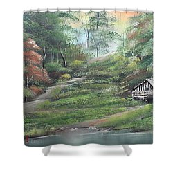 Light Down The River Shower Curtain