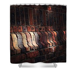 Light Shadow Texture Shower Curtain by Natasha Marco