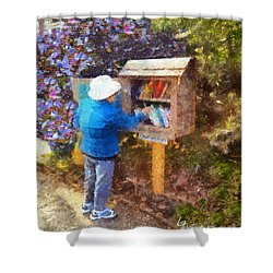 Alameda  Little Free Library Shower Curtain