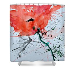 Lonely Poppy Shower Curtain