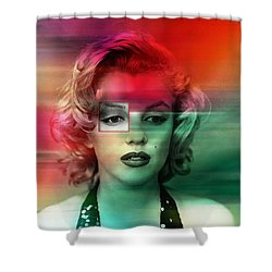 Marilyn Monroe Painting Shower Curtain by Marvin Blaine