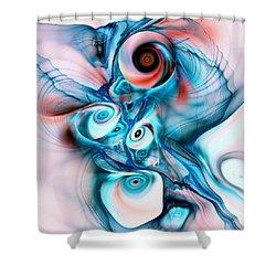 Marshmallow Dragon Shower Curtain by Anastasiya Malakhova