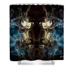 Minotaur Smoke Abstract Shower Curtain