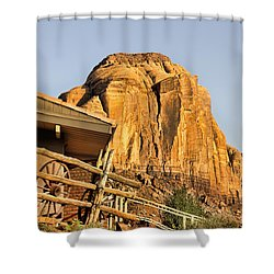 Monument Valley Holiday Shower Curtain