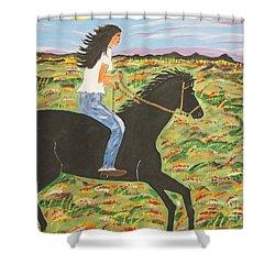 Morning Bareback Ride Shower Curtain