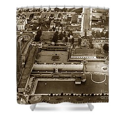 Neptune Beach Olympic Size Swimming Pool And A Roller Coaster Alameda Circa 1920 Shower Curtain