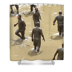 Nh North Conway Mud Ball Shower Curtain