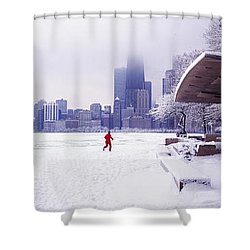Shower Curtain featuring the photograph  North Ave Beach Chess Palv Chicago Lake Front  by Tom Jelen