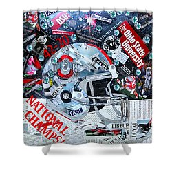 Ohio State University National Football Champs Shower Curtain
