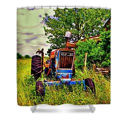 Old Ford Tractor Shower Curtain by Savannah Gibbs