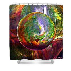Orbing A Sea Of Love Shower Curtain